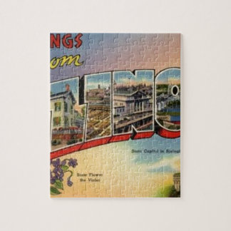 Greetings From Illinois Jigsaw Puzzle