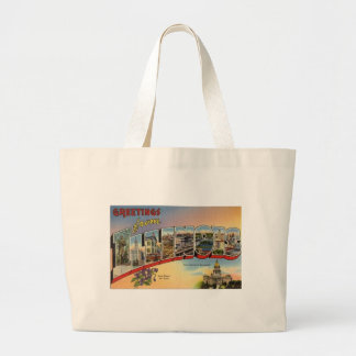 Greetings From Illinois Large Tote Bag