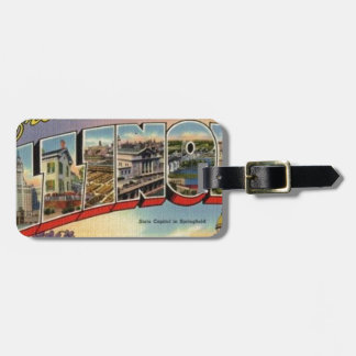 Greetings From Illinois Luggage Tag