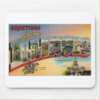 Greetings From Illinois Mouse Pad