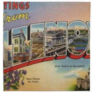Greetings From Illinois Napkin
