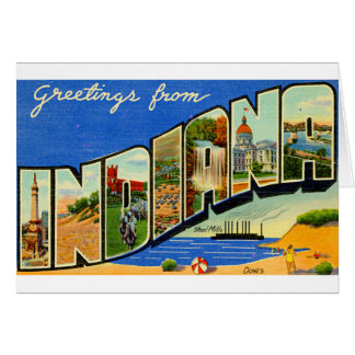 Greetings From Indiana Card