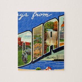 Greetings From Indiana Jigsaw Puzzle
