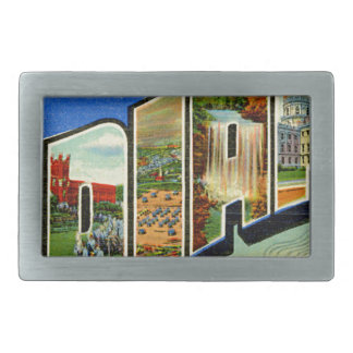 Greetings From Indiana Rectangular Belt Buckle