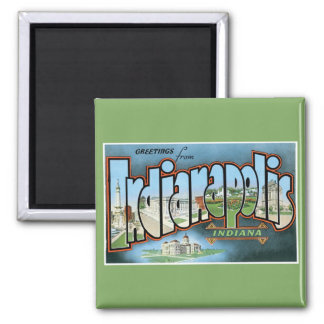 Greetings from Indianapolis Indiana! Vintage Magnet