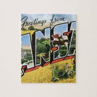 Greetings from Kansas Jigsaw Puzzle