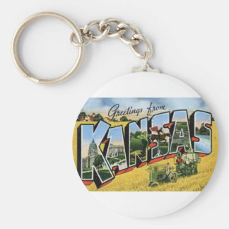 Greetings from Kansas Keychain