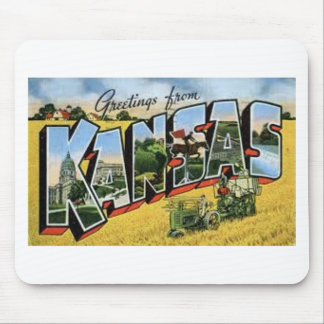Greetings from Kansas Mouse Pad