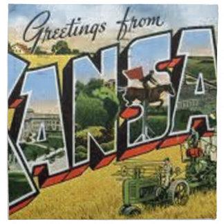 Greetings from Kansas Napkin