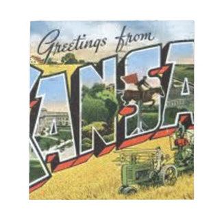 Greetings from Kansas Notepad