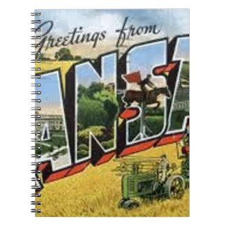 Greetings from Kansas Spiral Notebook