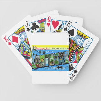 Greetings From Kentucky Bicycle Playing Cards