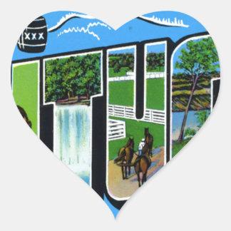 Greetings From Kentucky Heart Sticker