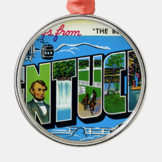 Greetings From Kentucky Metal Ornament
