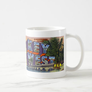 Greetings from Key West Vintage Postcard Mug