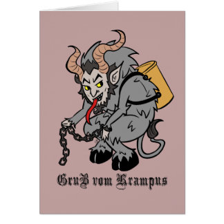 Greetings from Krampus in Grey Card