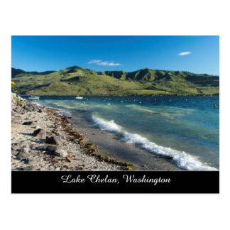 Greetings from Lake Chelan Washington State Hills Postcard