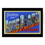 Greetings from Long Beach California Card