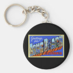 Greetings from Long Beach California Keychains