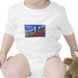 Greetings from Long Beach California Baby Bodysuits