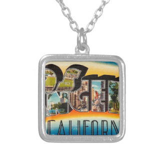 Greetings From Los Angeles Silver Plated Necklace
