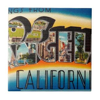 Greetings From Los Angeles Tile