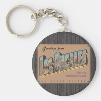 Greetings From Los Angeles, Vintage Keychain