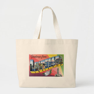 Greetings From Louisiana Large Tote Bag