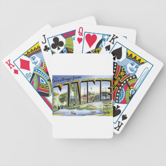 Greetings From Maine Bicycle Playing Cards