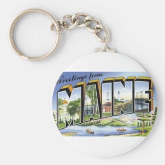 Greetings From Maine Keychain