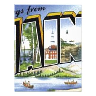 Greetings From Maine Letterhead