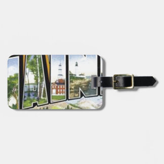 Greetings From Maine Luggage Tag