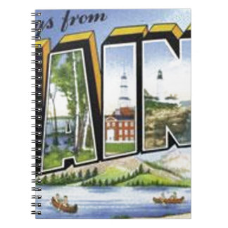 Greetings From Maine Notebook