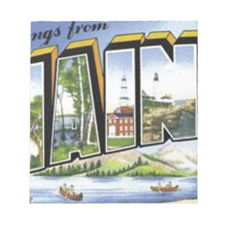 Greetings From Maine Notepad