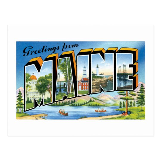 Greetings from Maine! Postcard