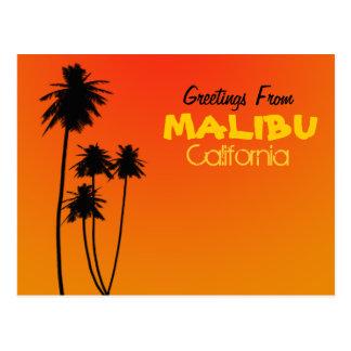 Greetings From Malibu Postcard