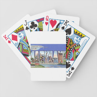 Greetings From Maryland Bicycle Playing Cards