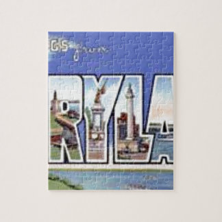 Greetings From Maryland Jigsaw Puzzle