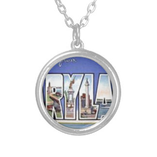 Greetings From Maryland Silver Plated Necklace