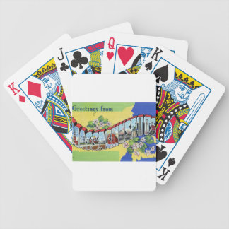 Greetings From Massachusetts Bicycle Playing Cards