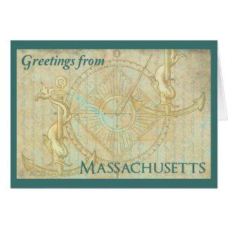 Greetings from Massachusetts Card