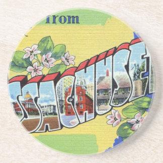 Greetings From Massachusetts Coaster