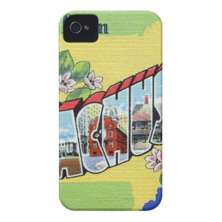 Greetings From Massachusetts iPhone 4 Case-Mate Cases