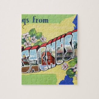 Greetings From Massachusetts Jigsaw Puzzle