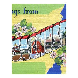 Greetings From Massachusetts Letterhead