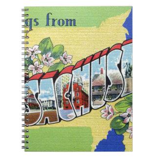 Greetings From Massachusetts Notebooks