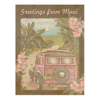 Greetings from Maui Postcard