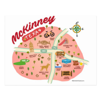 Greetings from McKinney Postcard