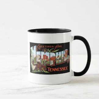 Greetings from Memphis, Tennessee! Retro Post Card Mug