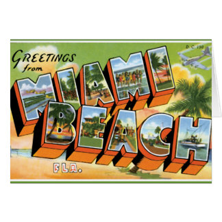 Greetings from Miami Beach Card
